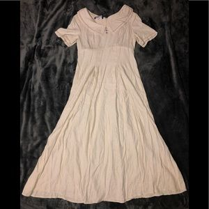 Vintage Carole little textured basic collar dress